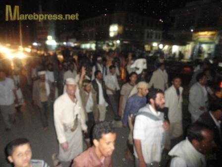 البيضاء: مسيرة جماهيرية حاشدة تندد بمجزرة نظام صالح ضد المتظاهرين السلميين في صنعاء 16010.1316386520.56.