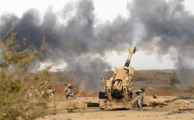 مدفعية الجيش الوطني تدك مواقع الحوثيين بالبيضاء