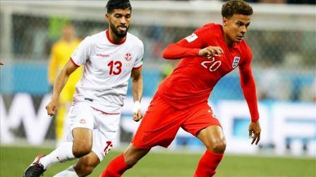تونس تخسر امام انجلترا في أولى مباراتها المنديالية