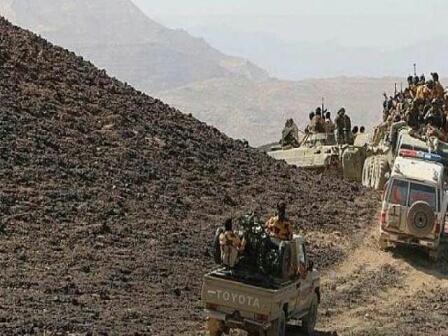 قوات عسكرية ضخمة تقتحم معقل المليشيا من اربعة محاور وتخوض اعنف المعارك بمران _تفاصيل