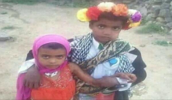 شاهد أصغر عروسين من «ذمار».. العريس 8 سنوات والعروس أصغر بسنوات وسبب زواجهما «مؤلم»