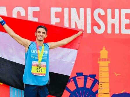 لاعب يمني يحصد المركز 33 في ماراثون بيروت الدولي