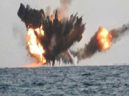 الاعلان عن تدمير زورق حوثي «شديد الانفجار»