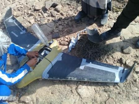 الجيش يسقط طائرة تجسس تابعة للميليشيات