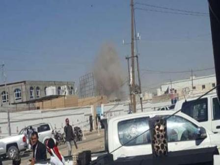مأرب..سقوط مقذوف حوثي على حي سكني بالمدينة