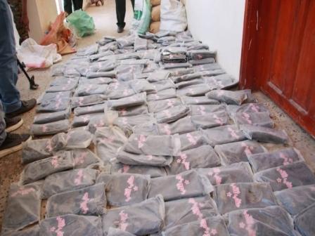 ضبط شحنة مخدرات كانت في طريقها إلى الحوثيين