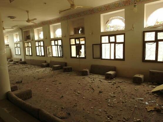 شاهد بالصور أثار الدمار لمنزل اللواء سلطان العرادة بعد استهدافه بصاروخ  بالستي